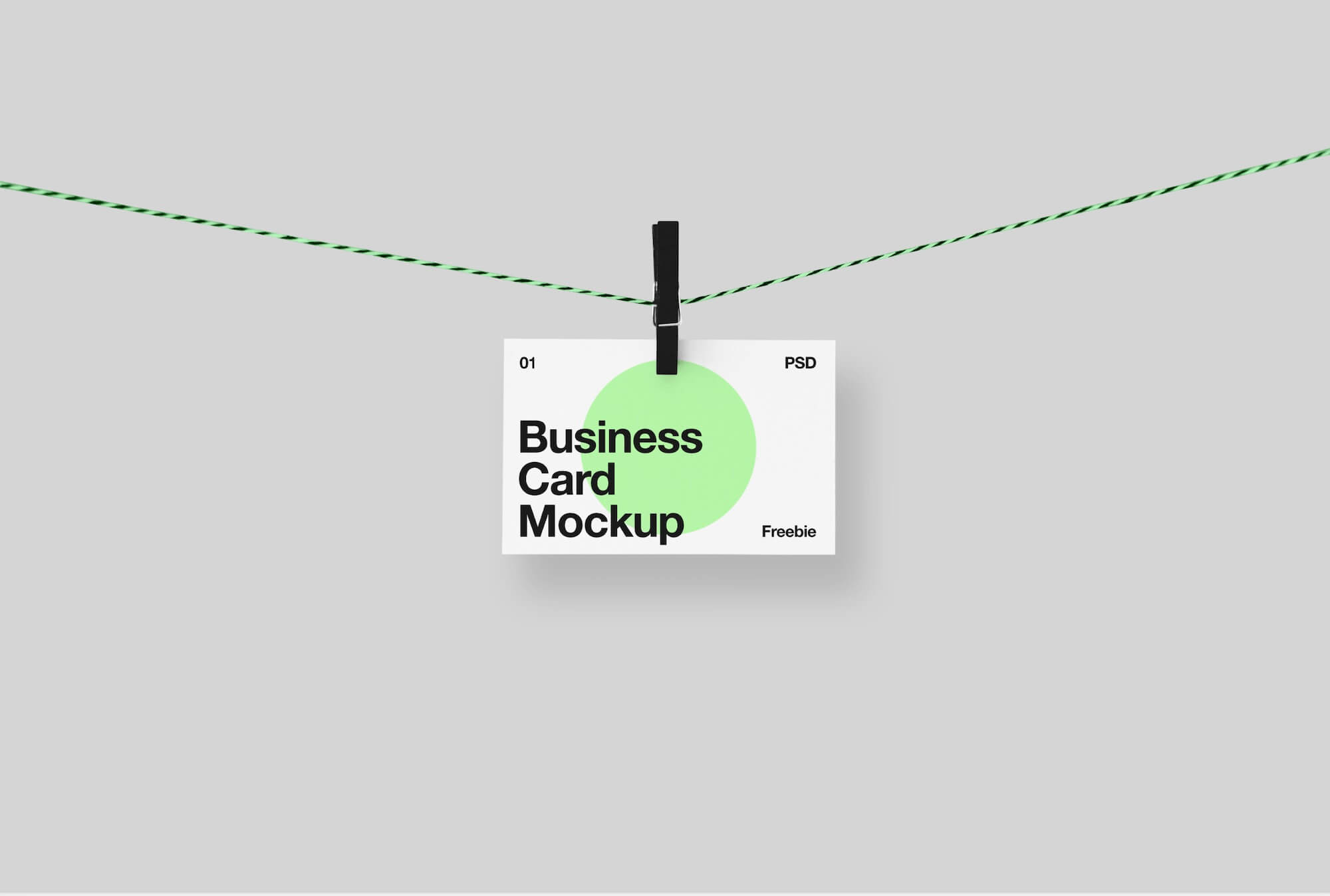 Business Card Hanging on a Clothespin