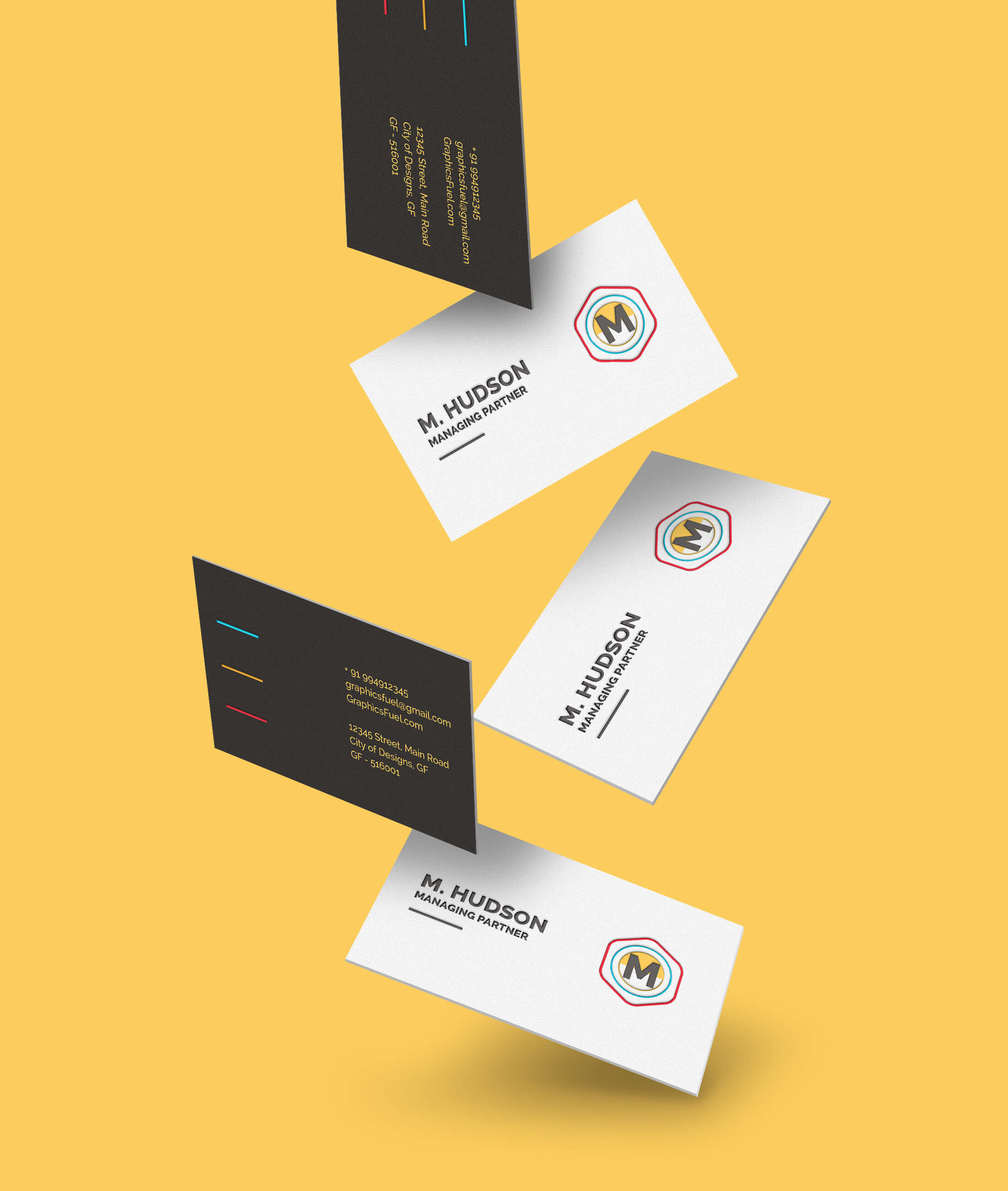 Levitating Business Card Mockups