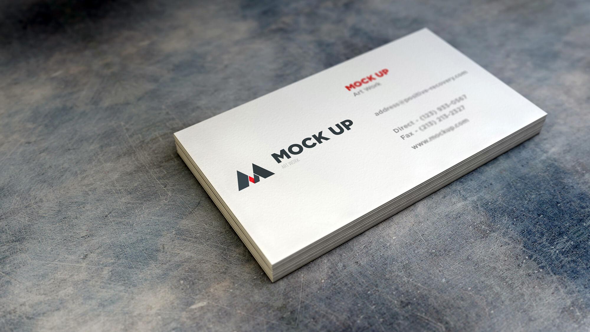 Free Beautiful Business Card Mockup