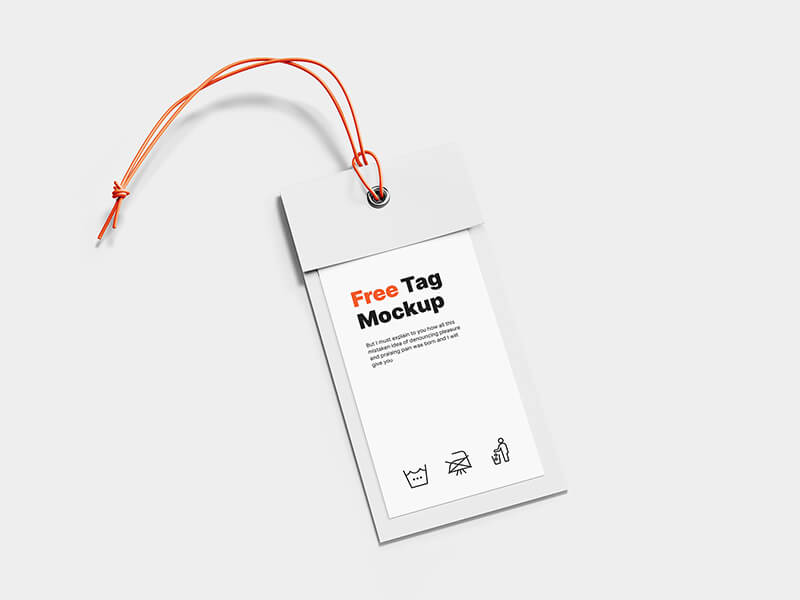 Simple and minimalistic scene label tag mockup scene for Photoshop