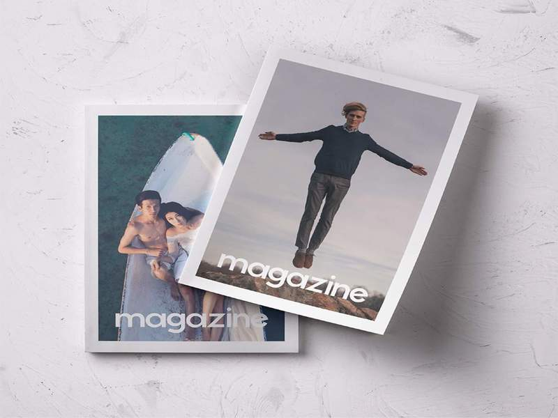 2 Magazines Cover PSD Mockup