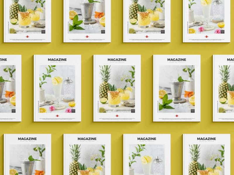 Grid of Magazines Covers Mockup