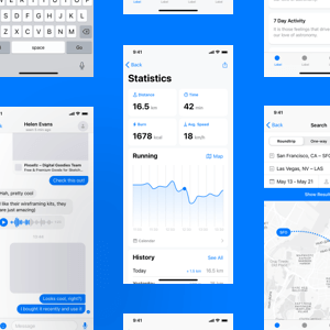 iOS Wireframe Kit with 240+ layouts