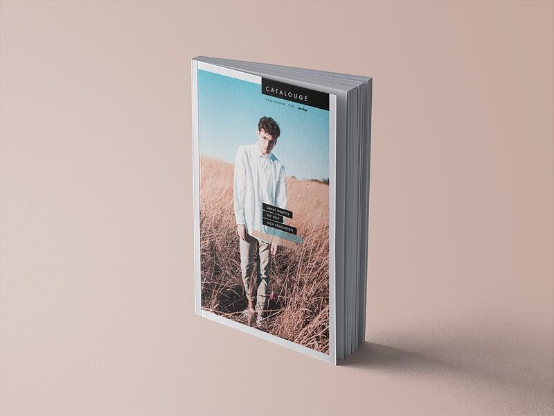 Free Standing Position Magazine Mockup