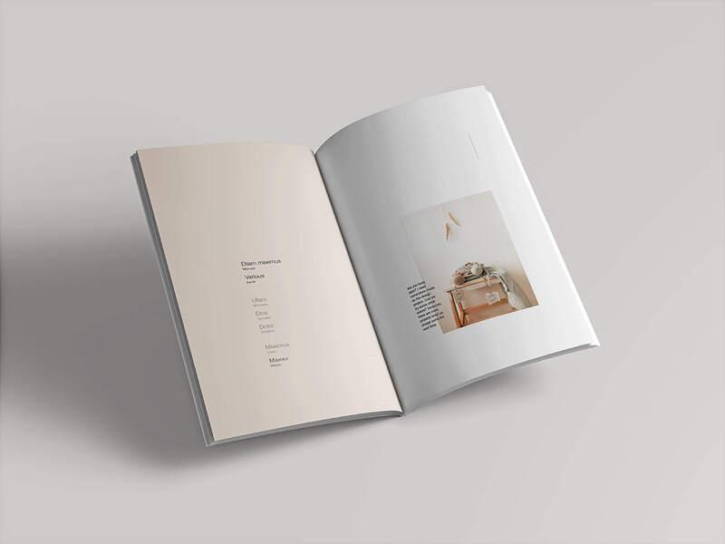 Photorealistic Open Magazine Mockup