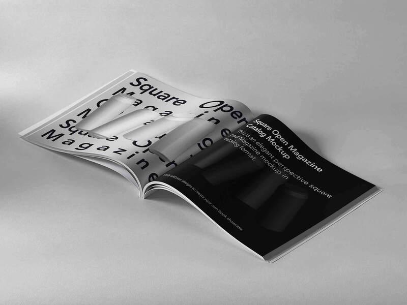 Open Square Psd Magazine Mockup