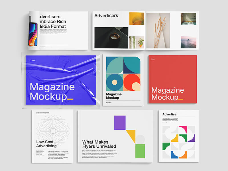 Magazine Mockup Bundle