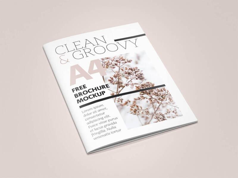 6 PSD Brochure A4/Magazine Free Mockup