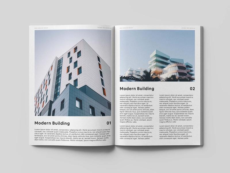 Classic Open Magazine PSD Mockup