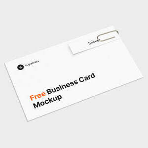 Business Card & Sticker Free Mockup