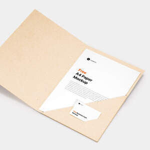 Free A4 Paper & Business Card Mockup