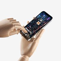 Wooden Hands & iPhone 12 Pro Mockups