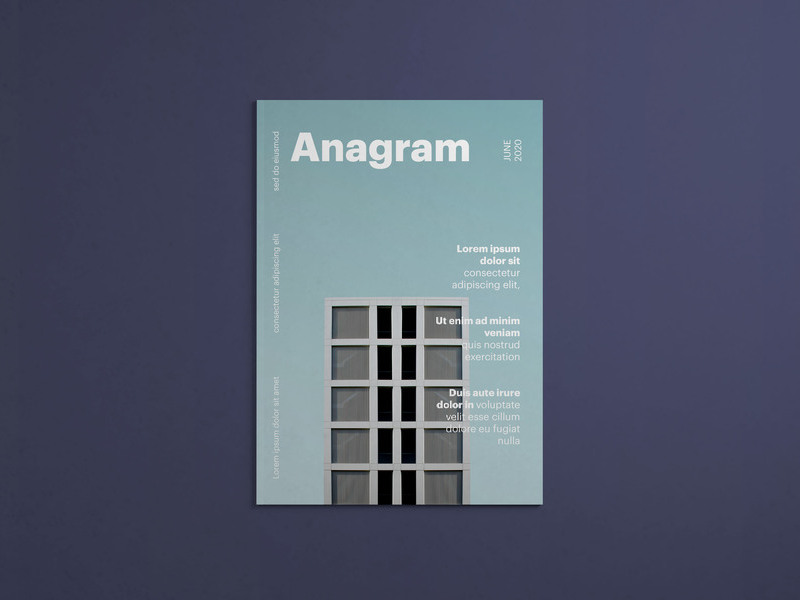 Free Magazine Cover Top View Mockup