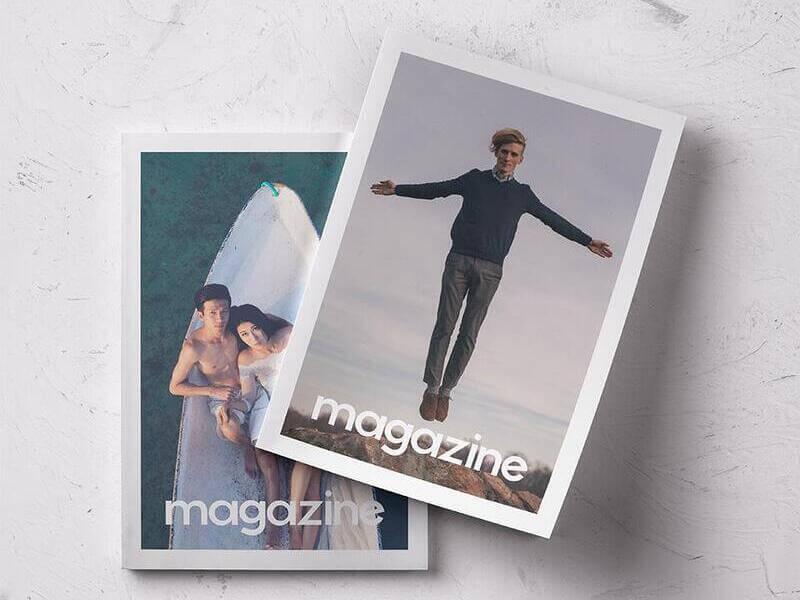2 Magazines Cover Beautiful Mockup