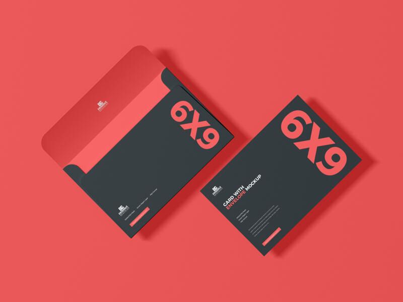 Free 6×9 Inch Card & Envelope Mockup
