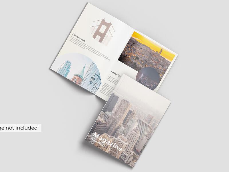 Free A4 Magazine Cover Mockup