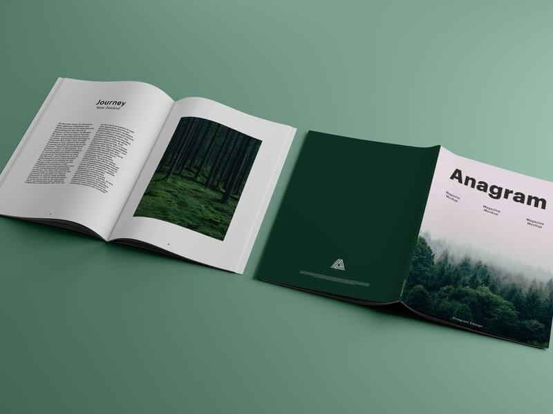 2 Magazines Photorealistic Mockup