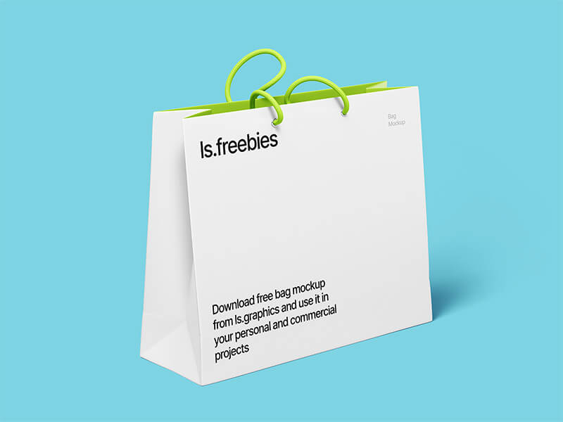 Highest quality free bag mockup for Photoshop. Mega resolution 6000 x 4500px. Change color of every detail. Great for your personal and commercial branding presentations.