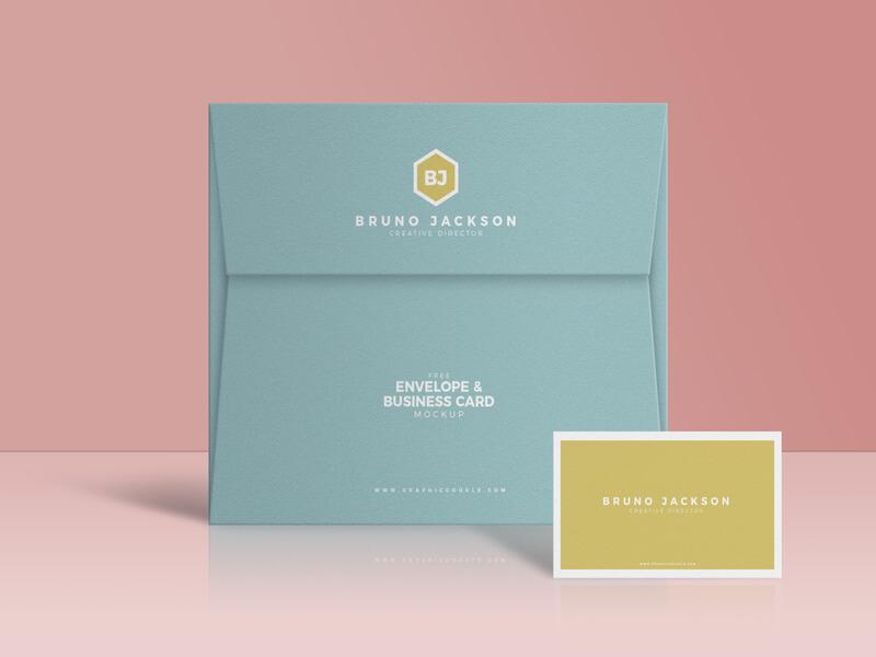 Elegant Envelope & Business Card PSD Mockup