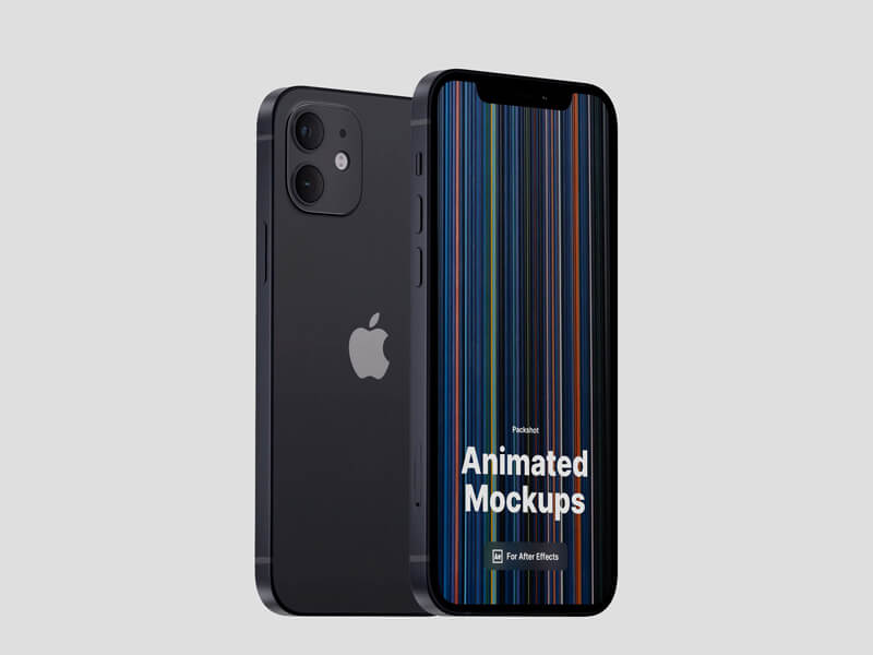 iPhone 12 Looped, Animated Mockups