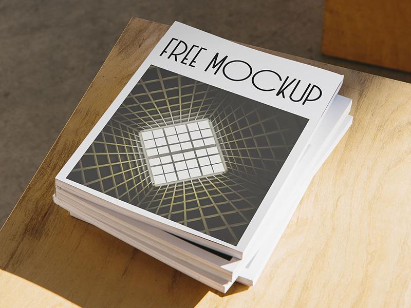 Atmospheric Magazines Stack PSD Mockup