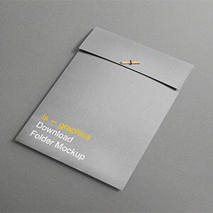Free A4 Folder Mockup