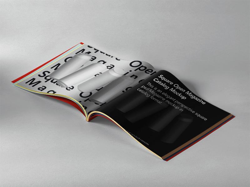 Open Square Magazine PSD Mockup