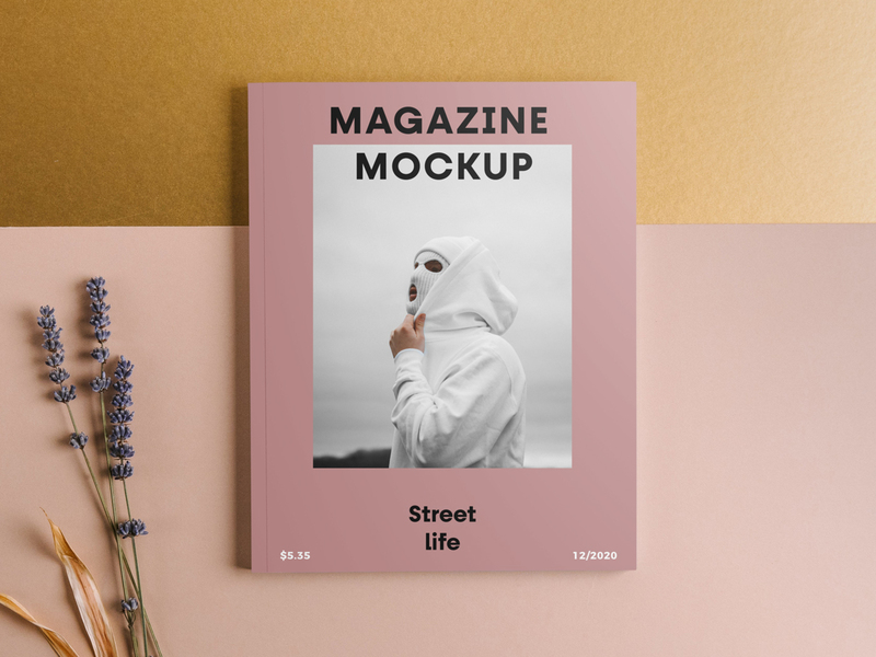 Magazine Front Cover Mockup
