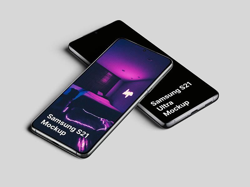 Free Galaxy S21 Mockups