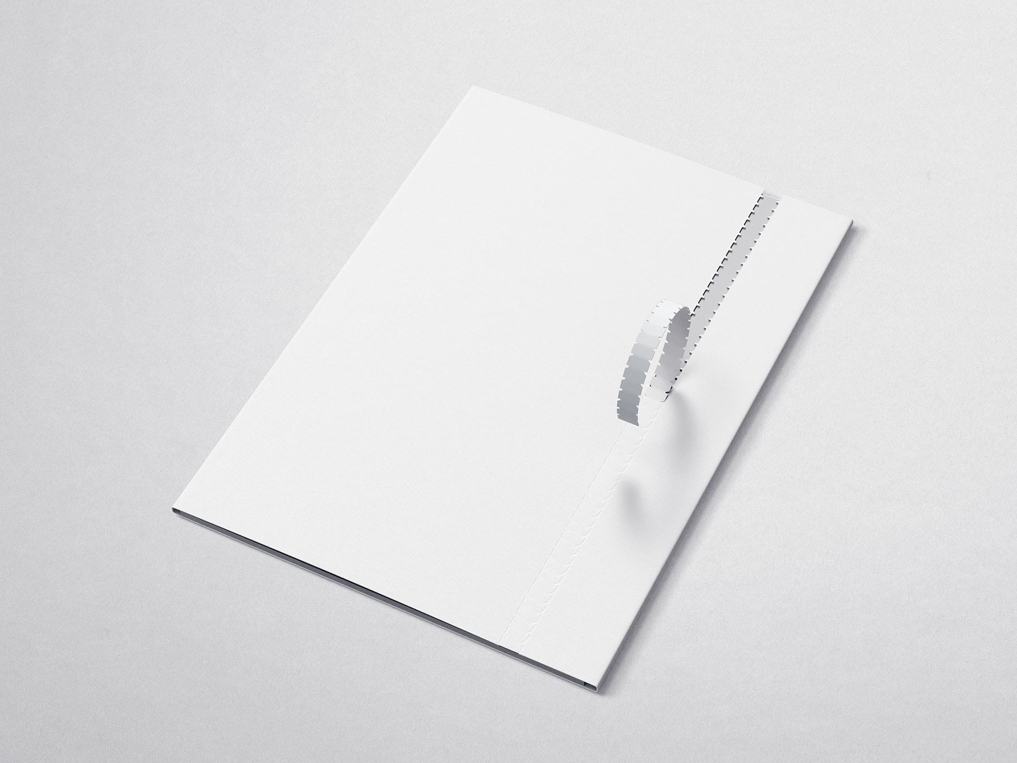 Free Folder Mockup with the Perforation