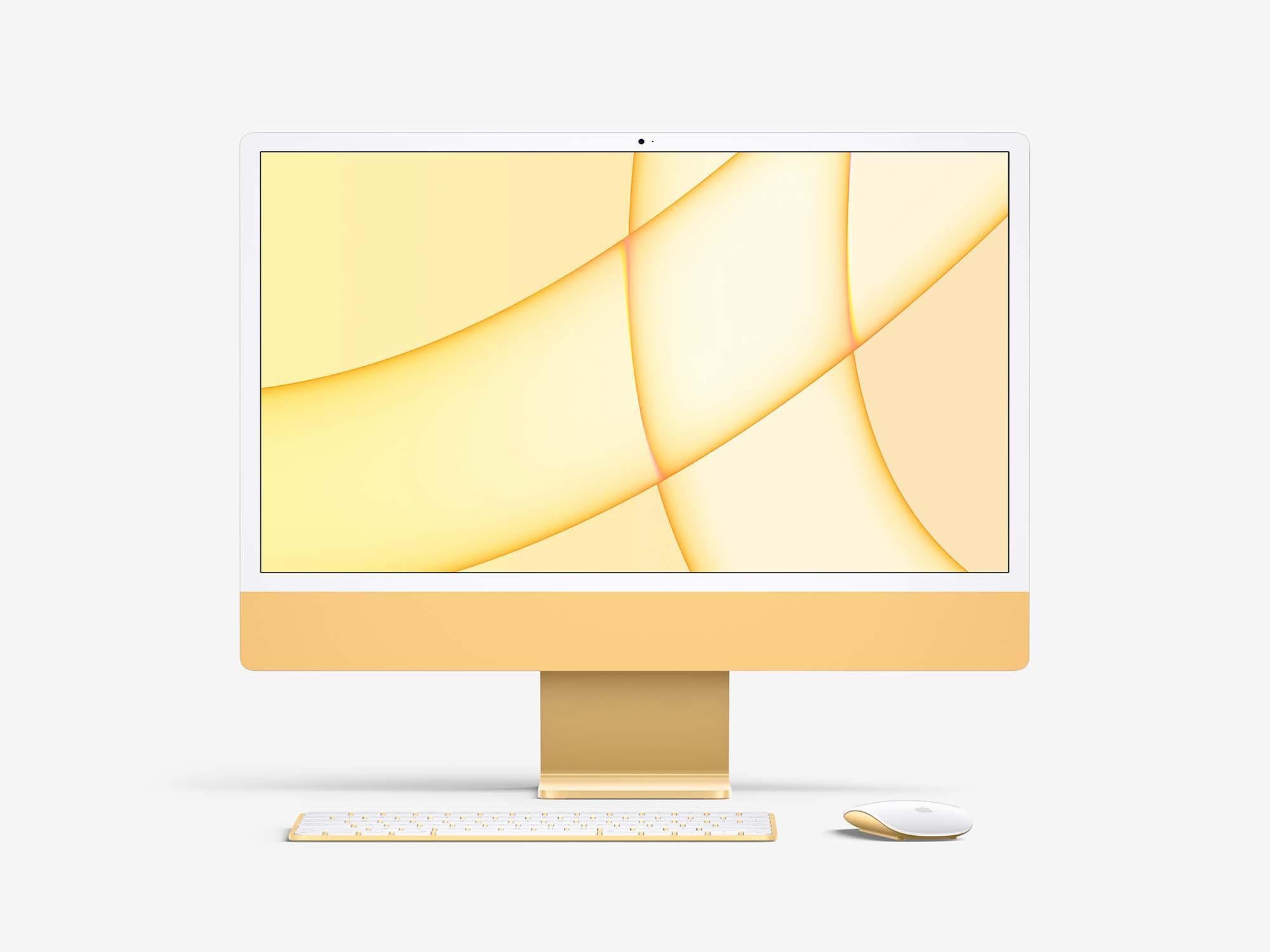 Free iMac 24-inch Mockup