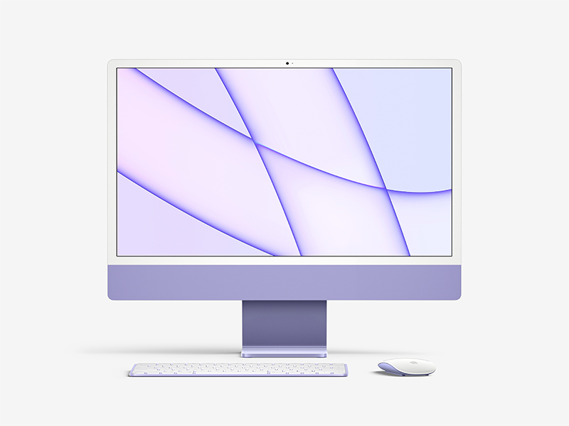 Meet the new iMac mockup in a premium quality and 7 color styles. You can easily customize this photorealistic mockup thanks to smart layers function. Use it to create professional UI design presentation and amaze your clients and subscribers!