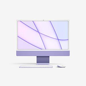 Free iMac 24 Mockup