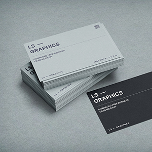 Free Stacked Business Cards Mockup PSD