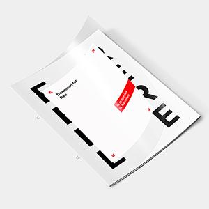 Letter Transparent Cover Brochure