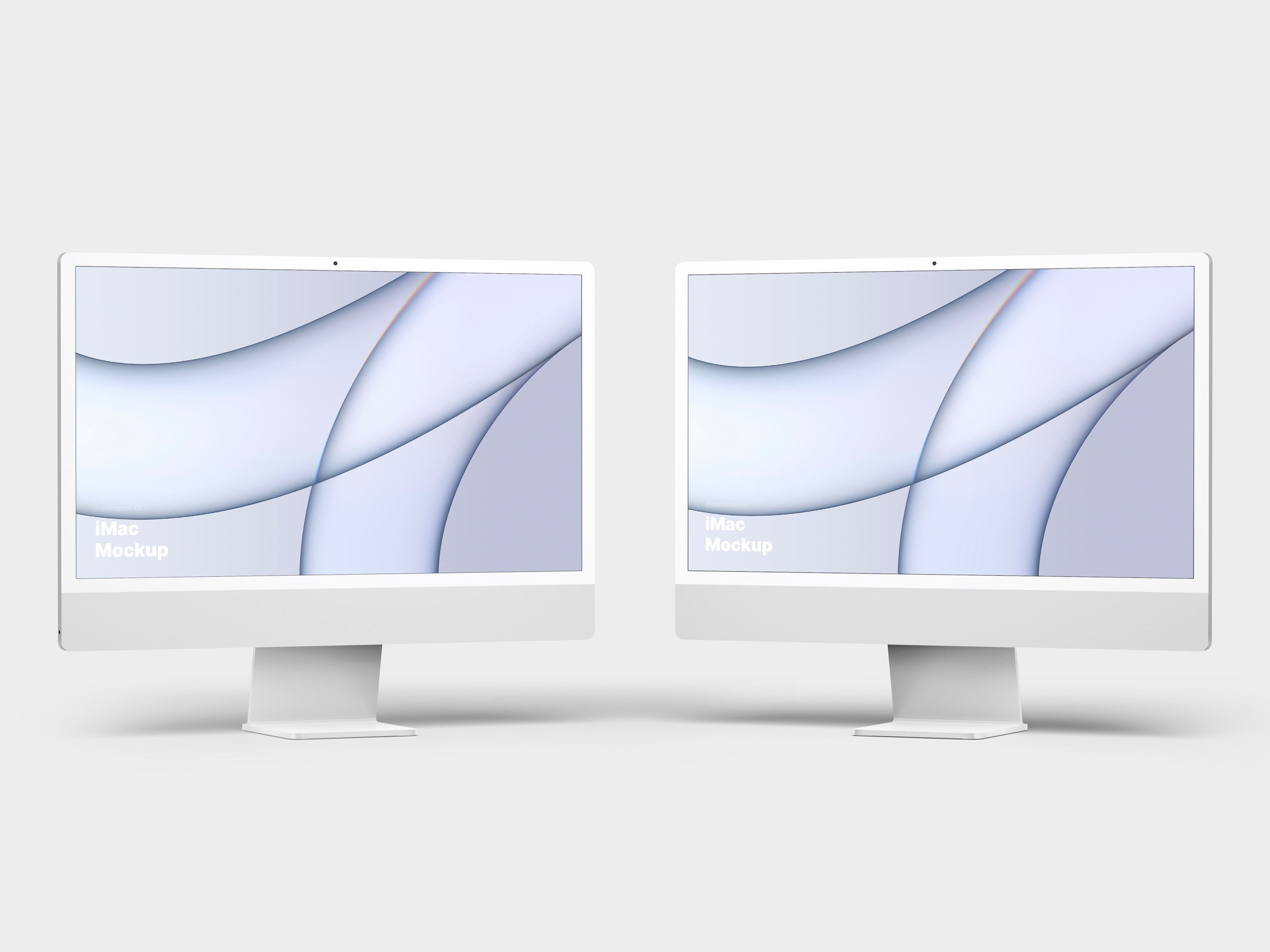 Silver iMac Mockup