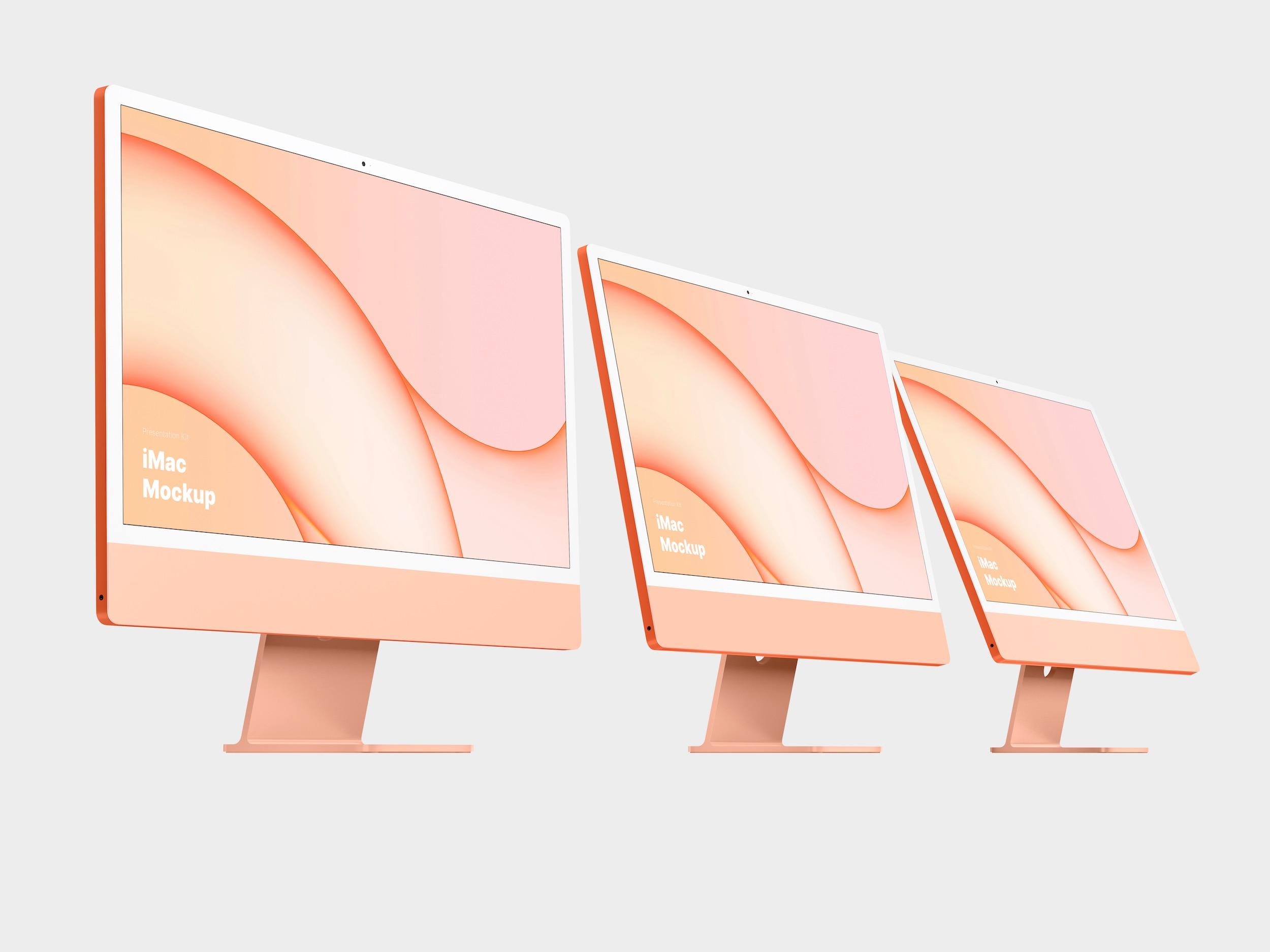 Orange iMac Mockup
