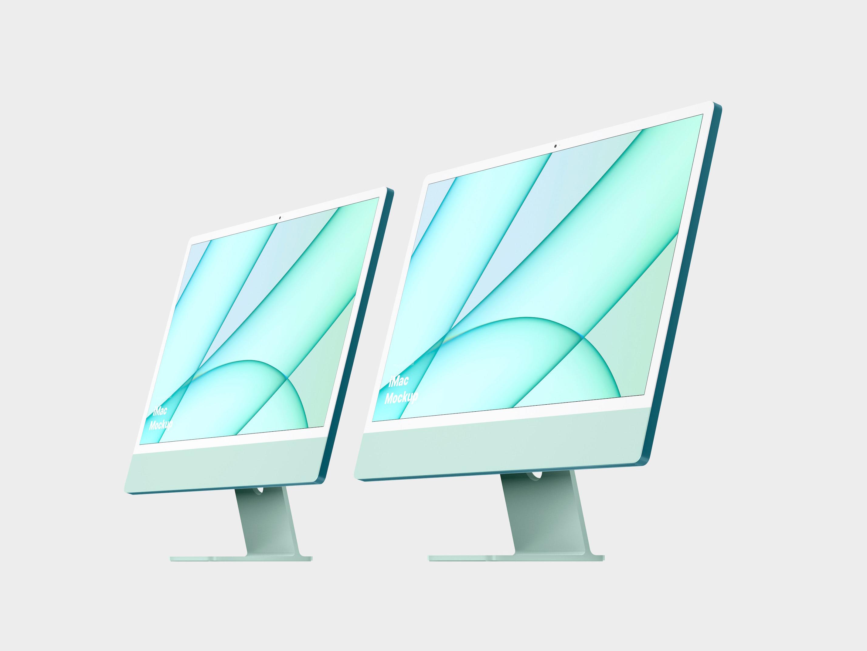 Green iMac Mockup