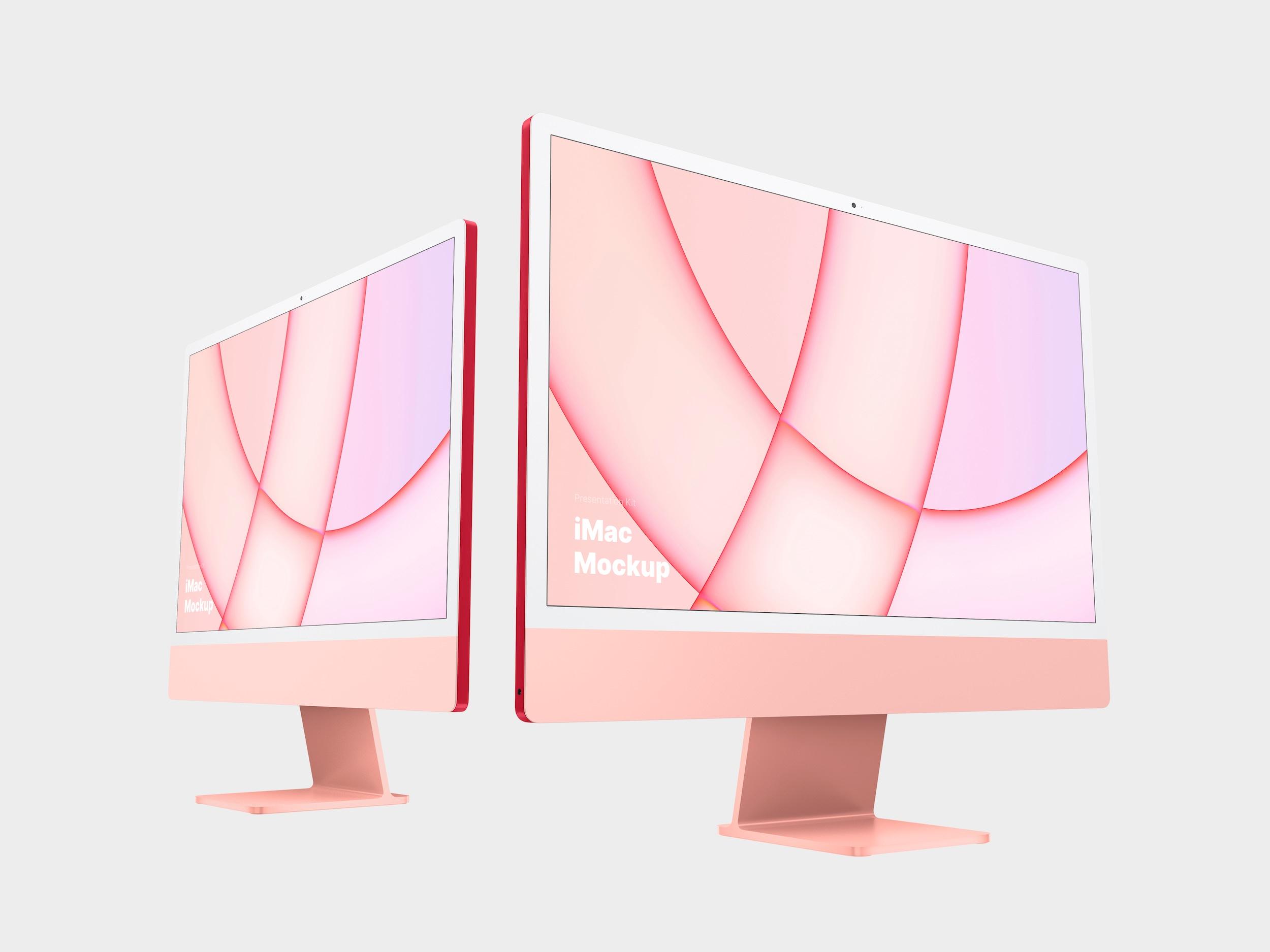 Pink iMac Mockup