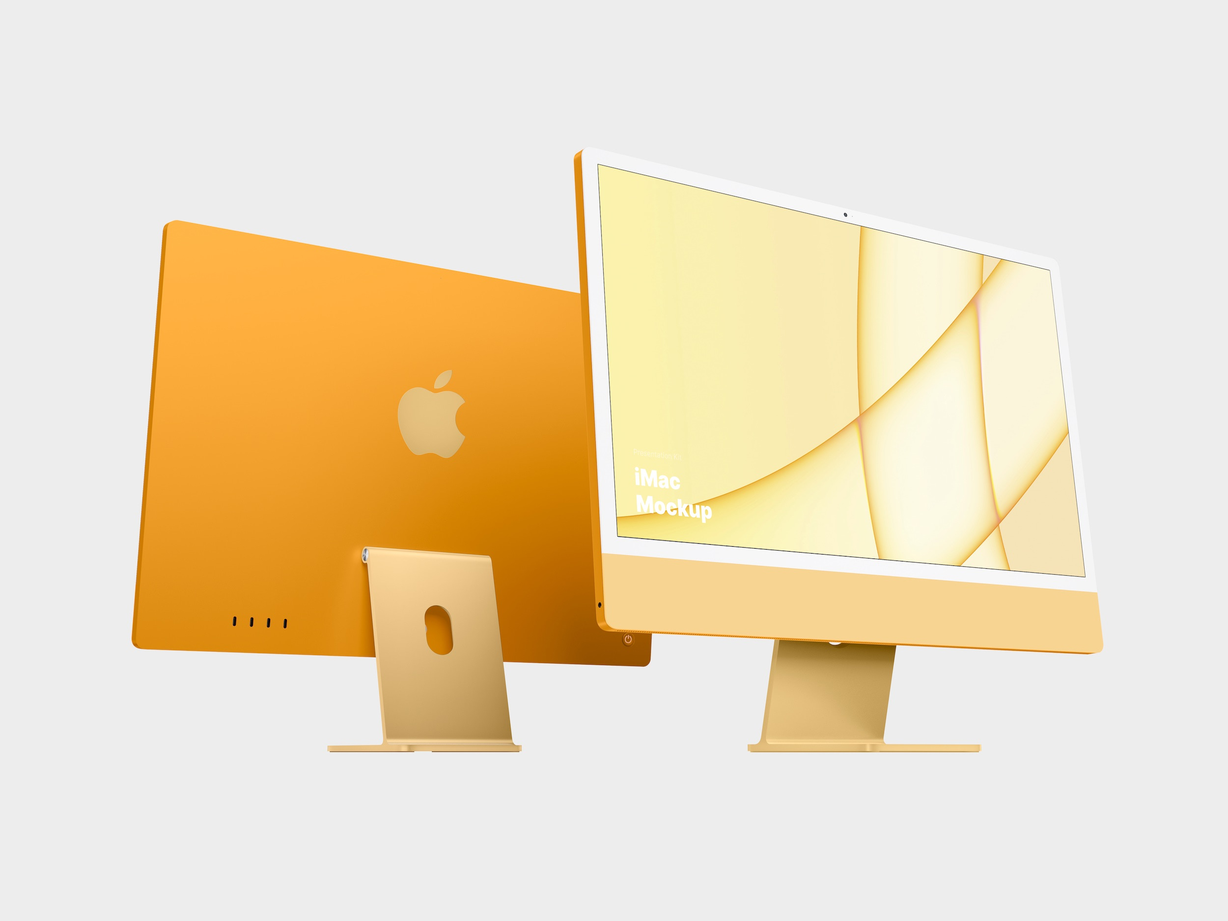 Yellow iMac Mockup