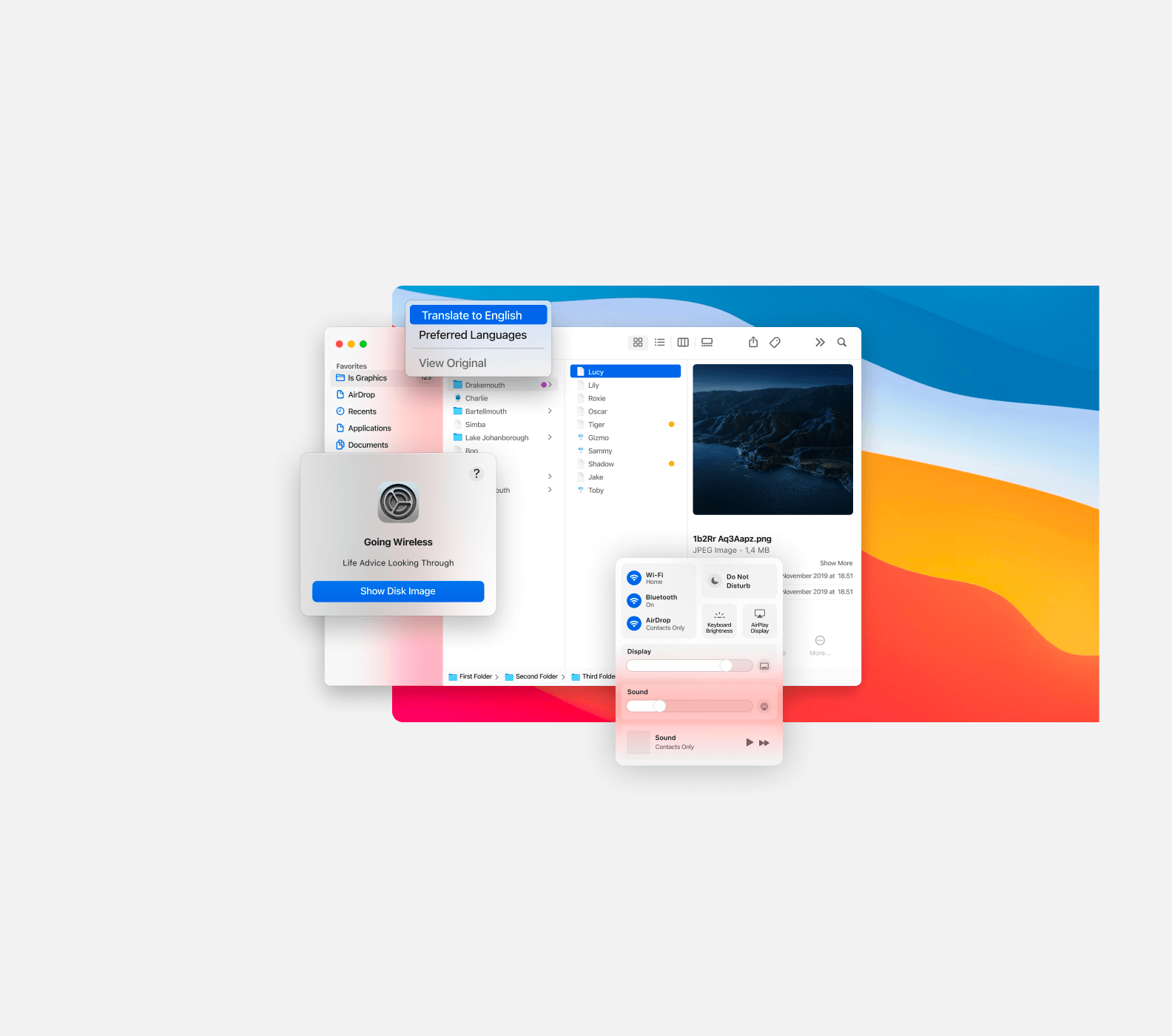 MacOS 11 UI Kit