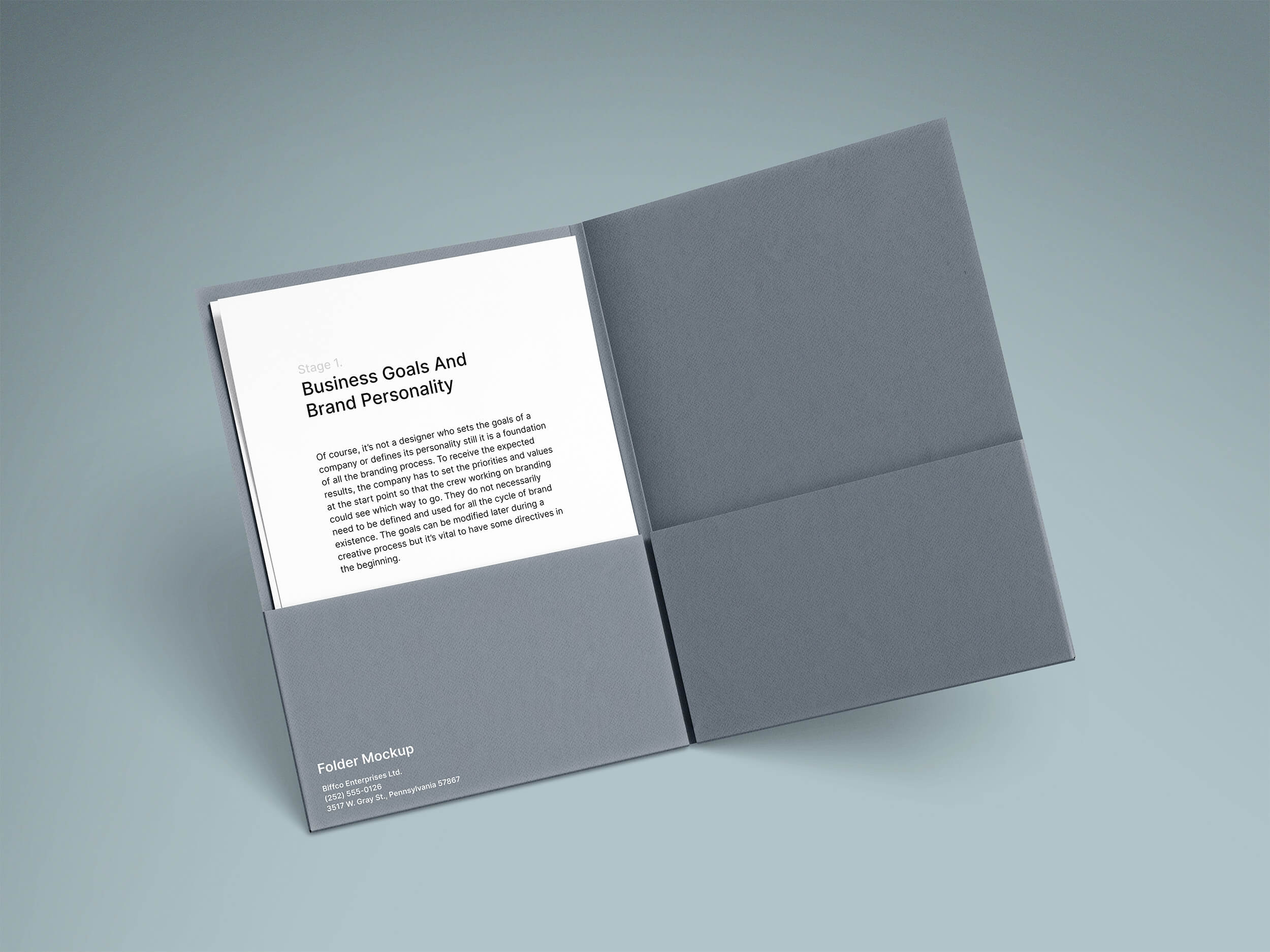 Free A4 Folder and Paper Mockups