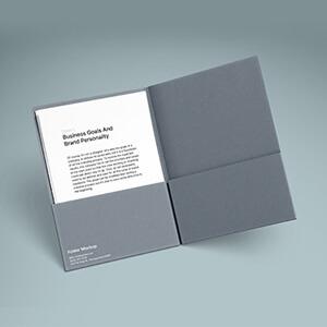 Free A4 Folder, Paper Mockup