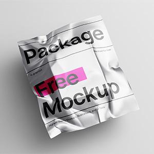 Free Metallic Package Mockup