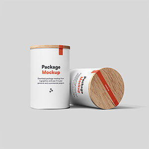 2 beautifully rendered containers in a front view. Perfect for your client's brand presentations as well as your own portfolio. Easy to customize - just put your design inside 'change this' smart object and it's done!