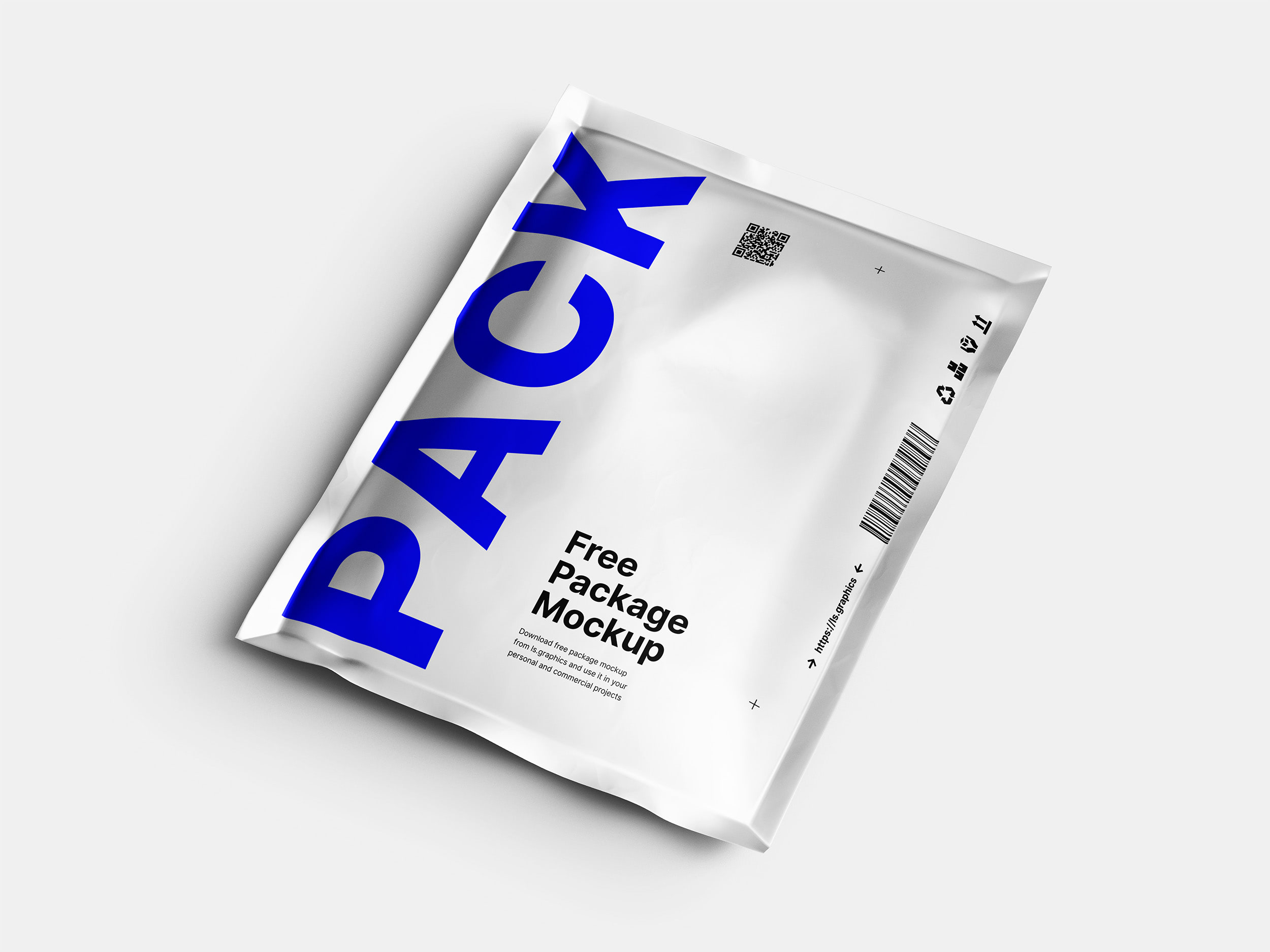 Free Aluminum Pouch Package Mockup