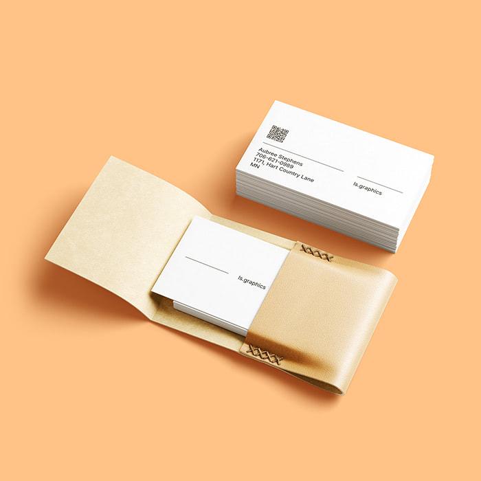 Leather Business Card Holder Mockup