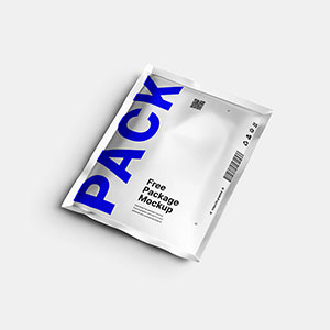 Free Aluminum Pouch Package Mockup 2