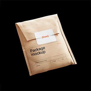 Kraft Paper Postal Bag Mockup