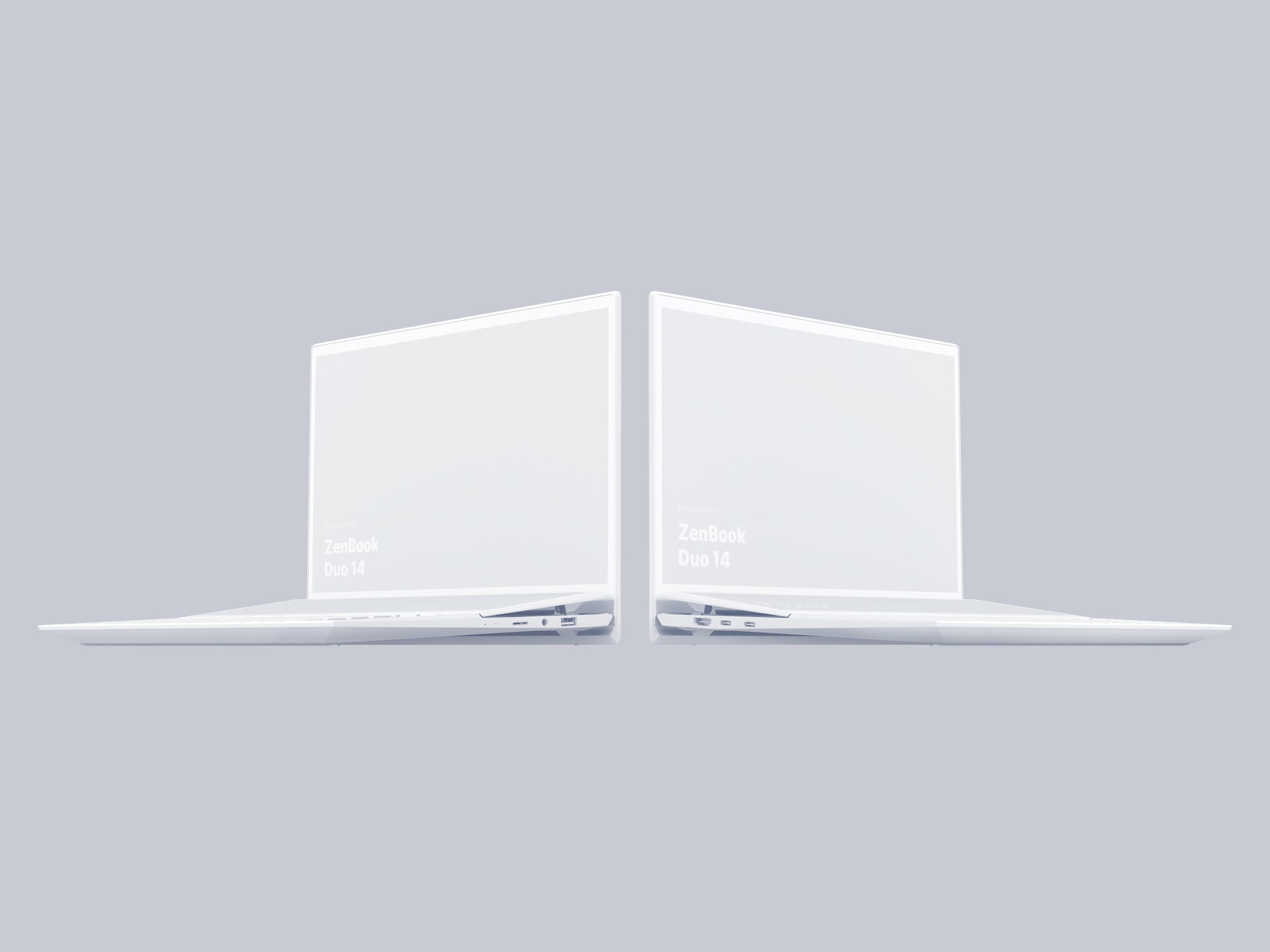 Zenbook Duo 14 Clay Mockups
